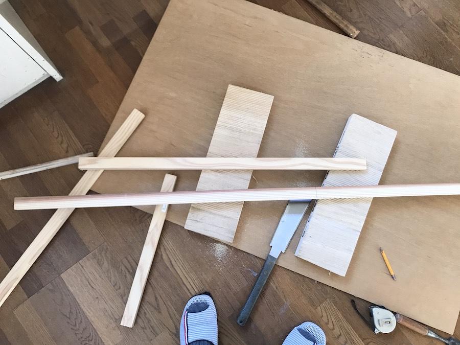 新しく壁を作る DIY セルフ リノベーション 初心者 一戸建て