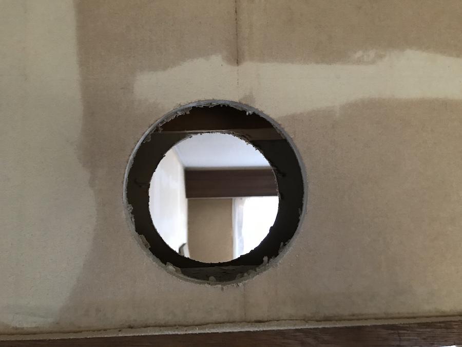 石膏ボード 穴あけ 丸,猫トンネル 作り方,猫の通り道 作り方