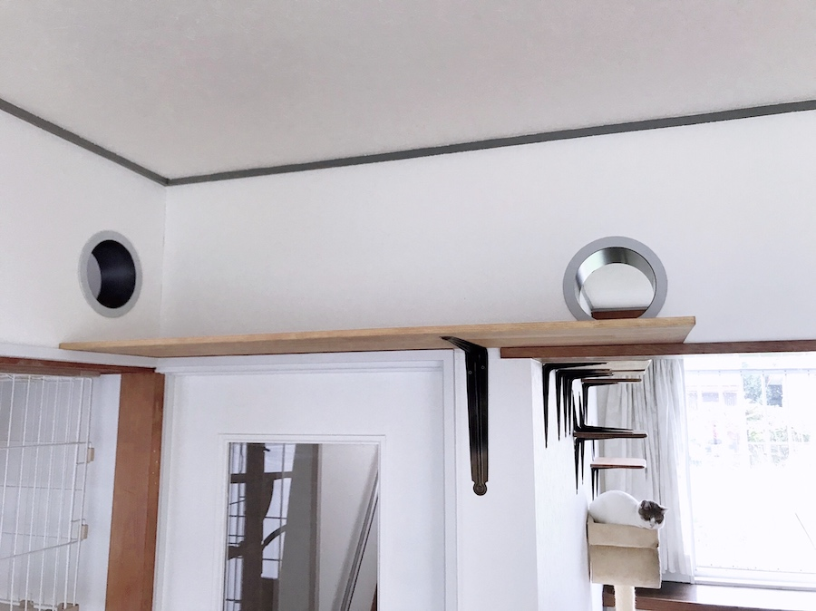 キャットウォーク作り方 猫トンネル 自作 DIY キャットステップ