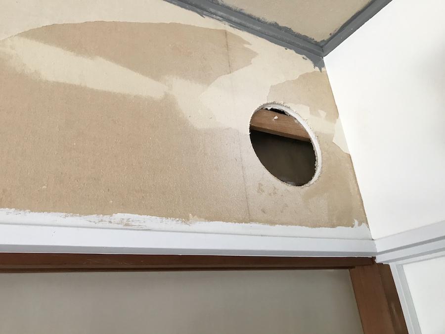 壁に丸い穴を開ける方法 猫の通り道 DIY セルフリフォーム