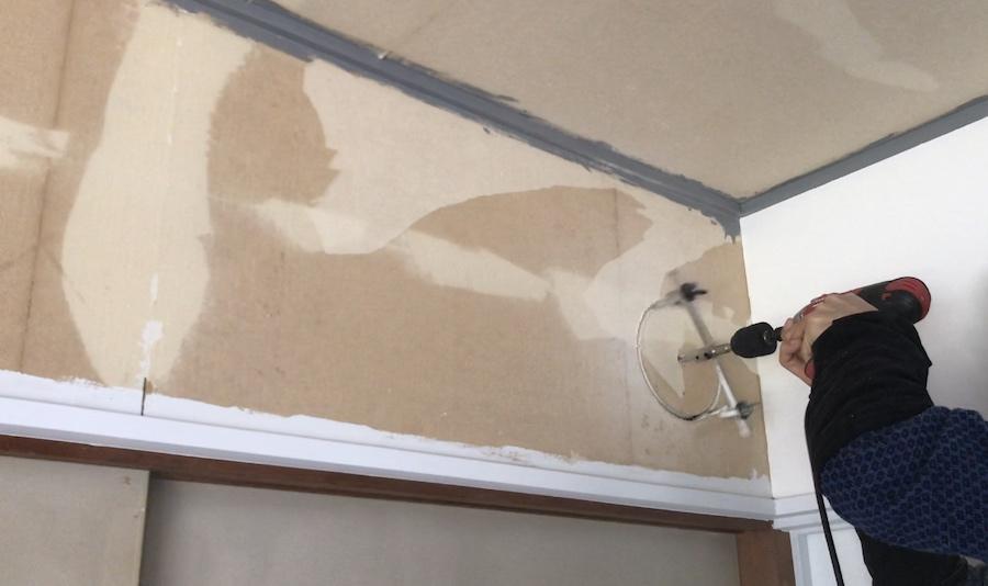 壁に丸い穴を開ける方法 猫の通り道 DIY セルフリフォーム 猫との暮らし