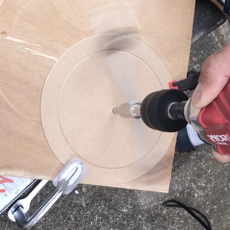木材を丸く切る方法 キャットステップ キャットウォーク 猫トンネル