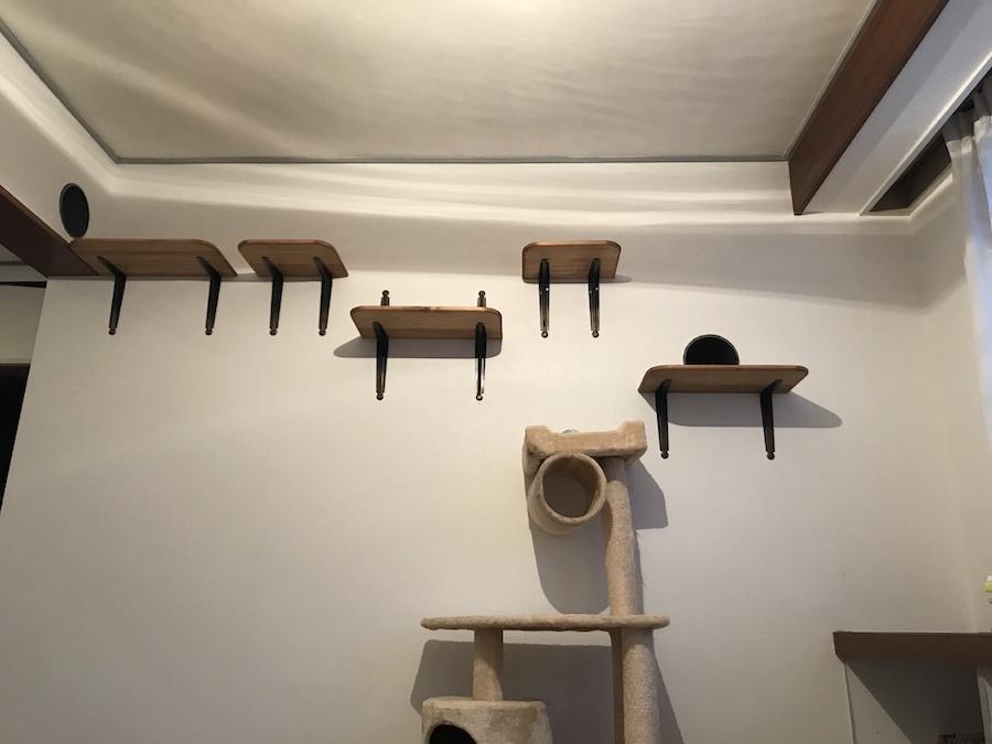 キャットステップ 自作 キャットウォーク DIY 猫との暮らし