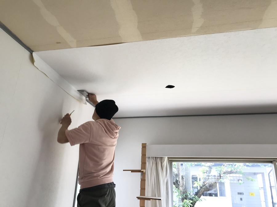 模様替え DIY 天井 クロス張替え DIY セルフリフォーム