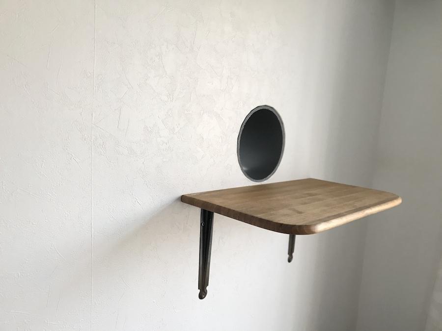 猫トンネル キャットウォーク作り方 石膏ボード DIY セルフリフォーム 猫との暮らし