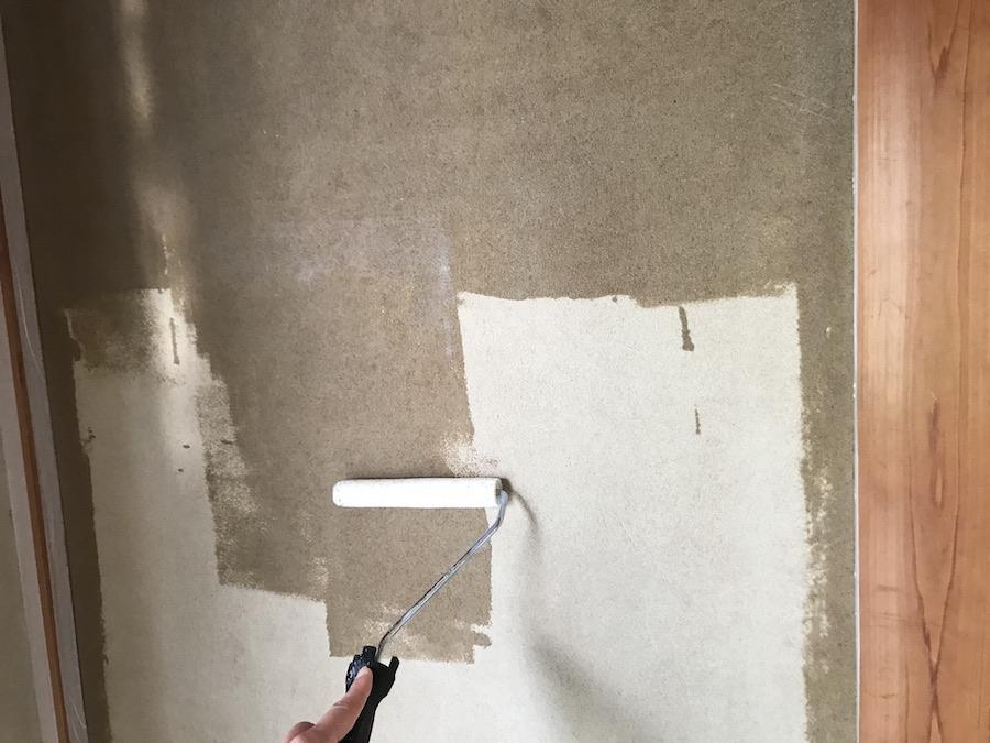 和室 砂壁 塗装の方法 ビフォーアフター セルフ DIY