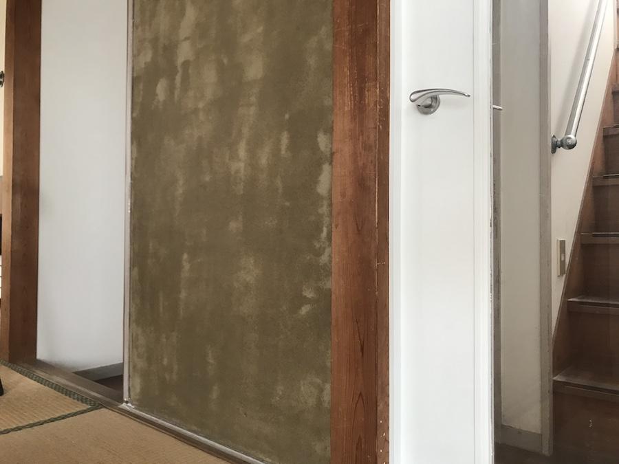 和室 砂壁 塗装の方法 カチオンシーラー ビフォーアフター セルフ DIY